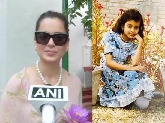 Kangana digs out childhood picture, draws comparison to her current self