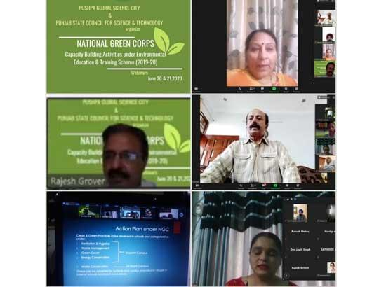National Green Corps (NGC) capacity building activities organized through webinars