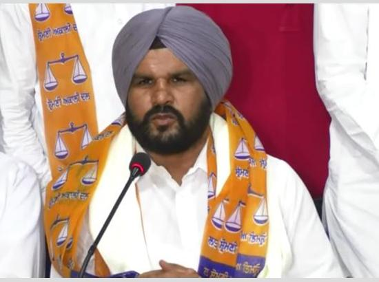 Sukhbir announces Rajinder Desu Jodha as  first SAD candidate from Haryana ( watch video )