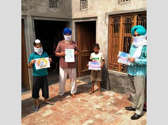 Education Department officials launch door-to-door awareness drive on Covid-19 epidemic