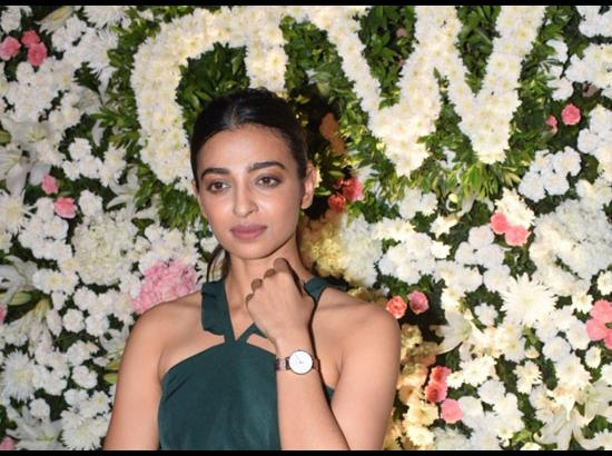 Radhika Apte during a Daniel Wellington progr