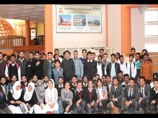 Students of Aryans College of Engineering visited PEDA
