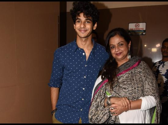 Ishaan Khatter with his mother Neelima Azeem