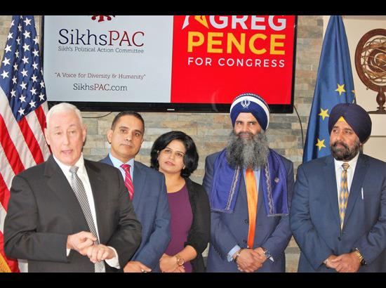 Greg Pence receives overwhelming support from Sikh community