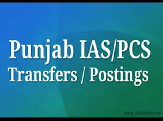 9 Punjab IAS and one PCS transferred