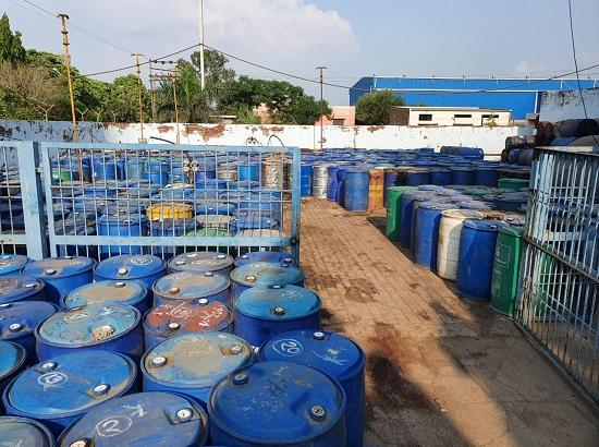 Excise department seizes big haul of 27600 litres of illicit Chemical containing Spirit fr