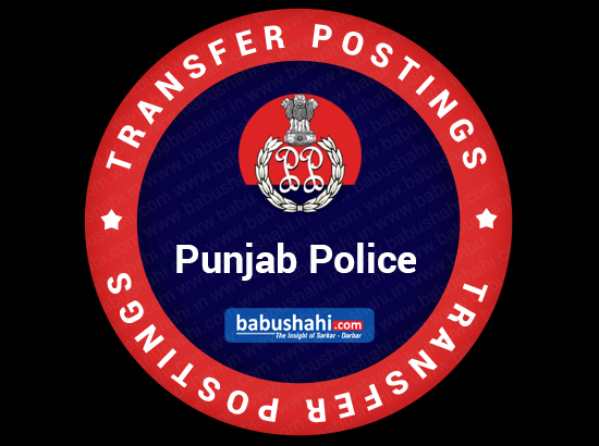 7 Punjab Police officers transferred