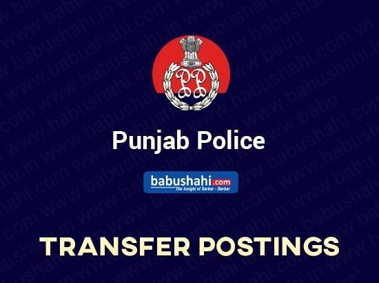 30 Police officers including SSPs transferred in Punjab
