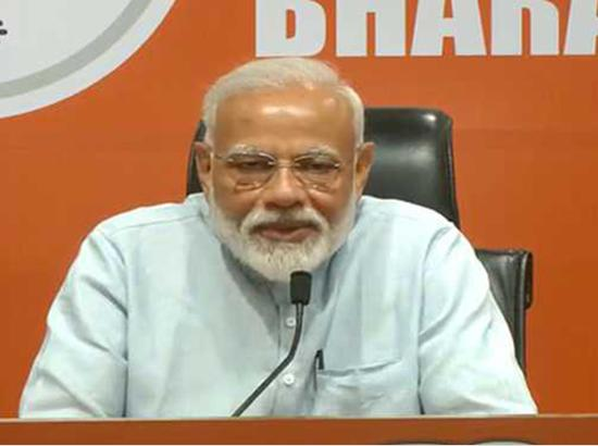 Confident of getting absolute majority again PM Modi avoids to answer questions in PC