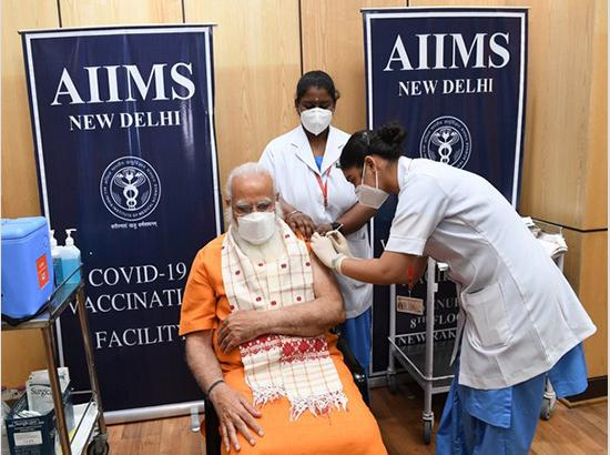 PM Modi receives second dose of COVID-19 vaccine