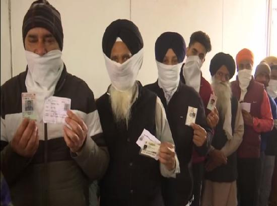 Farmers protest against farm laws in Amritsar during MC polls