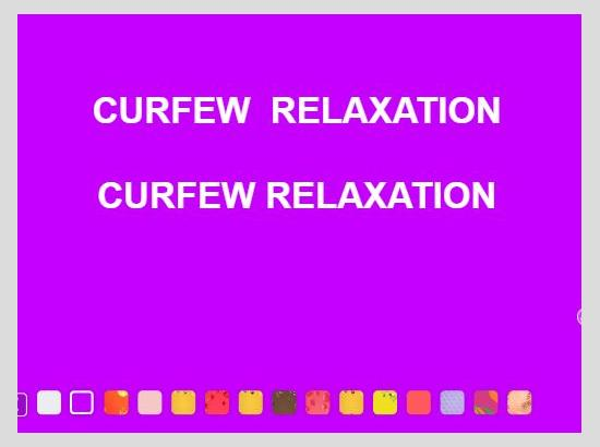 Duration of curfew relaxation in Chandigarh curtailed to four hours