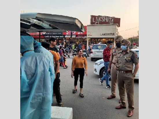 Mohali police issue 49 challans for not wearing masks