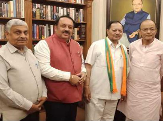 Former Punjab Minister joins the BJP , Jaitley welcomes
