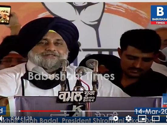Watch: How Sukhbir Badal announced his own ticket to contest Vidhan Sabha polls-2022