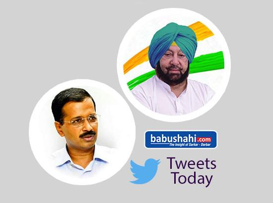 Capt and Kejriwal - tweet-o-tweet on sacrilege and Behbal firing