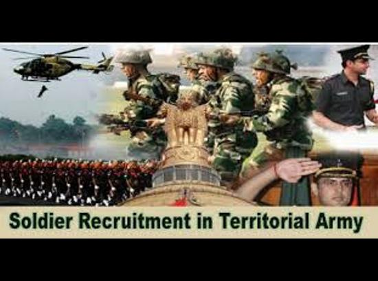 Recruitment Rally for the Territorial Army from five states