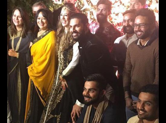 Image result for Yuvraj Singh wedding ceremony Gurdwara Fatehgarh Sahib